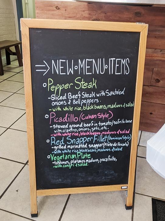 El Cubano, New menu items