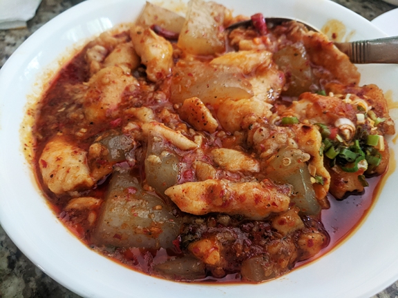 Grand Szechuan, Fish Fillet with Bean Jelly, closer still