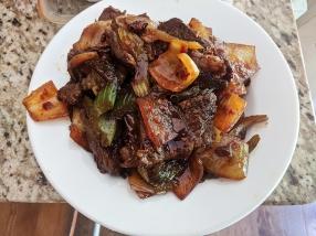 Grand Szechuan, Spicy Beef Short Ribs, reheated