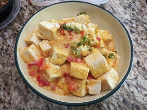 Grand Szechuan, Tofu w. Salted Egg Yolk, reheated