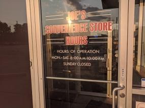 Joe's Kansas City, Convenience Store Hours