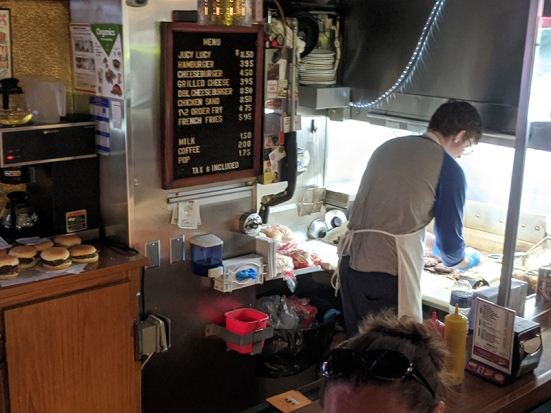 Matt's Bar, Burgers in progress
