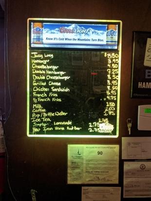 Matt's Bar, Menu