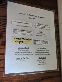 Namaste India Grill, Beer menu