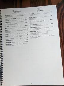 Namaste India Grill, Menu, Beverages, Dessert