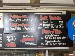 Arthur Bryant's, Menu, Meat, Drinks