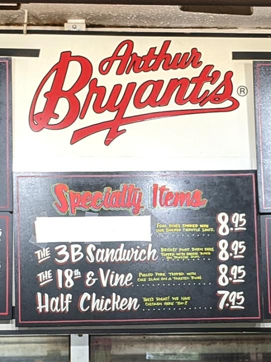 Arthur Bryant's, Menu, Specialty Items