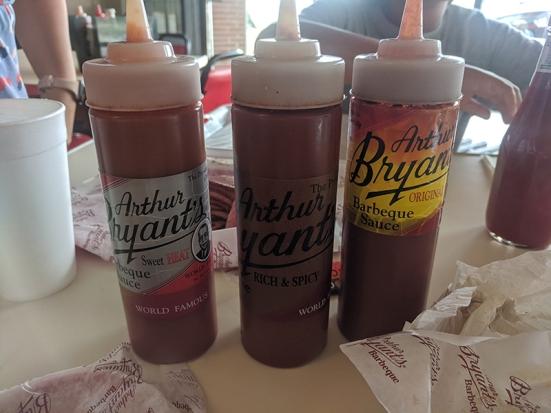 Arthur Bryant's, The sauce lineup