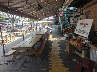 City Market, Pigwich, outdoor seating