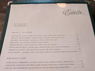 Estelle, Menu, Small Plates
