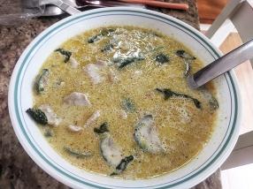 Krungthep Thai, Green Curry with pork, reheated