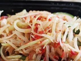 Krungthep Thai, Papaya Salad, close-up