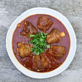 Lamb Shank Curry with Eggplant and Tomatoes