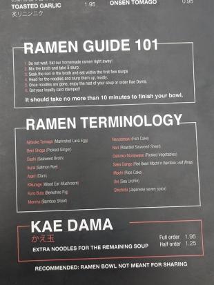 Strings Ramen, Ramen Guide