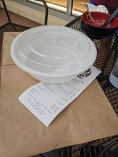 Strings Ramen, Takeout Container