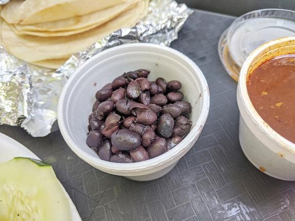 Taco N Madre, Black beans