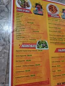 Taco N Madre, Menu, Choice of Meat, Aguachiles