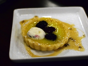 Voltaire, Lemon Curd Tart, from the side