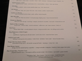Voltaire, The rest of the menu