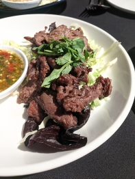 Waldo Thai, Grilled flank steak