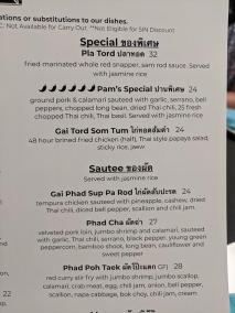 Waldo Thai, Menu, Special, Sautee