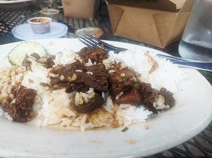 Bandung, Rendang and rice