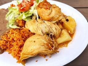 El Burrito Mercado, Chicken Fiesta, closeup