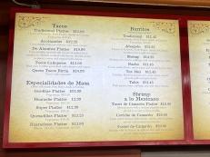 El Burrito Mercado, Counter service menu1
