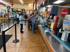 El Burrito Mercado, Counter service ordering