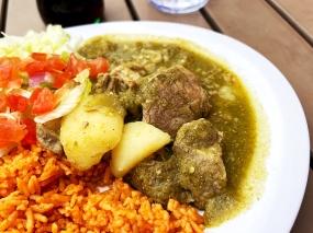 El Burrito Mercado, Pork in Salsa Verde 2, Close-up