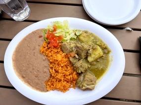 El Burrito Mercado, Pork in Salsa Verde