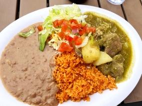 El Burrito Mercado, Pork in Salsa Verde2