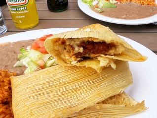 El Burrito Mercado, Tamales, close-up
