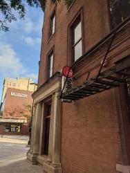 Ian's Pizza, Just around this corner