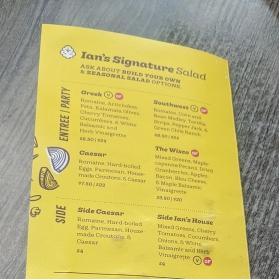 Ian's Pizza, Menu, Signature Salad