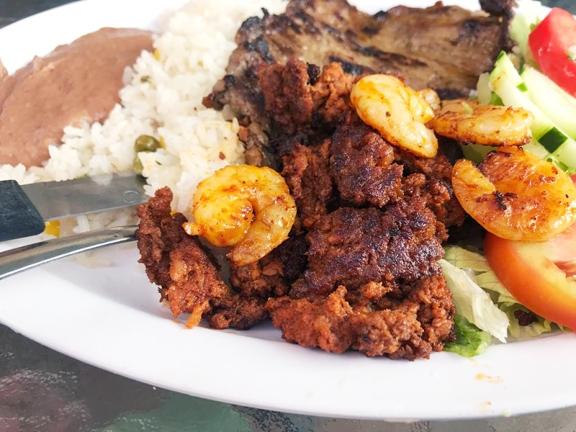 Mañana, Grilled Shrimp, Chorizo