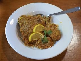 Original Mediterranean Grill, Chicken Korma, reheated