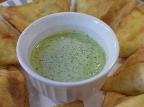 Original Mediterranean Grill, Green chutney