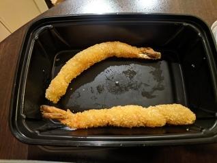 Red, Shrimp tempura