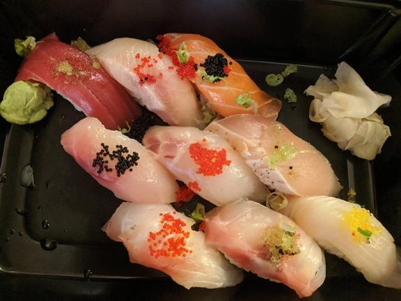 Red, Sushi Dinner