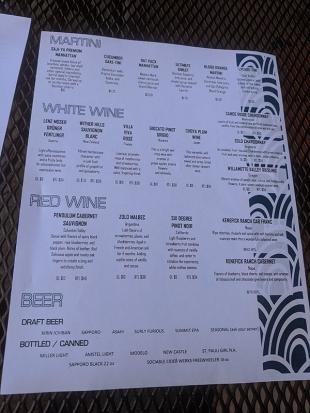 Saji-Ya, Menu, Martini, Wine, Beer