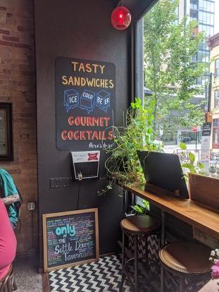 Settle Down, Tasty Sandwiches, Gourmet Cocktails