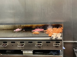 Andale, Meats on the griddle