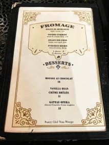 Meritage, Cheese, Desserts
