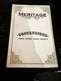 Meritage, Menu, Conclusions