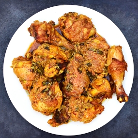 Roast Chicken with Cumin and Curry Leaf